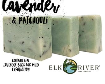 FREE SHIPPING Lavender & Patchouli Handmade Soap