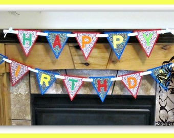 BANNeR ALPHABeT A thru Z ~ CaPs Applique Motif Edge 4 Birthday PeNNANT ~ In the Hoop ~ Downloadable DiGiTaL Machine Emb Design by Carrie