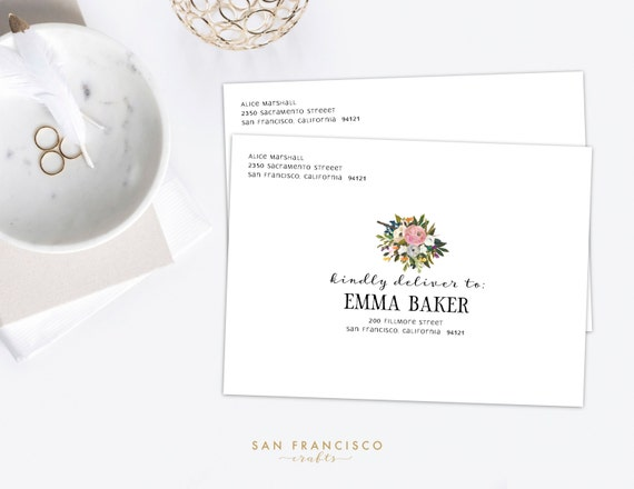 Envelope Template | Address Template Instant Download | Editable