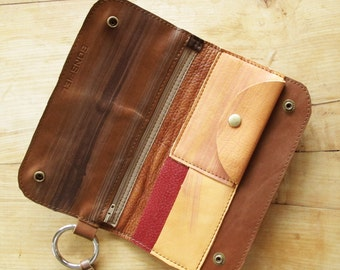 SALE Half Price Multipass Wrist Wallet Wristlet in Brown Leather