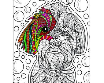 Tucker Printable Coloring Page for Adults