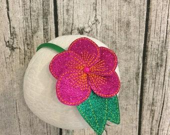 Moana Inspired Flower Hair Clip, Moana Inspired Flower Headband, Island Flower Clip, Hawaiian Flower Headband, Hawaiian Flower Hair Clip