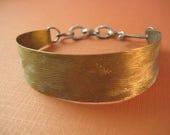 Ocean bracelet  Brass & Sterling wearable two ways Large Wave pattern