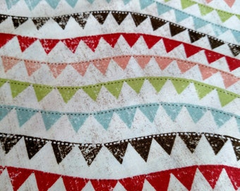 Bunting Fabric 2 Yards See First 2 Images.  Quilting Cotton Colorful For Kids, Nursery Decor, Parties.