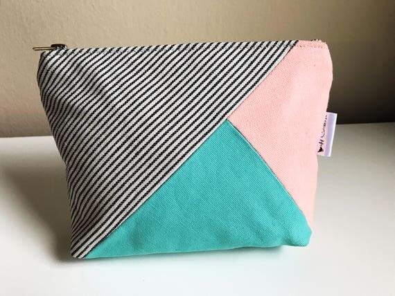 Canvas Makeup Pouch, Zipper Pouch, Travel Makeup Bag, Canvas Bag, Women's Toiletry Bag, Beauty Bag