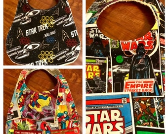 Baby Bib - Star Trek, Marvel or Star Wars