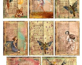 Fantasy World ACEO  - Digital Collage Sheet - Instant Download