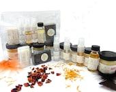 Sampler Set, 10-Piece, Travel Friendly, Natural Skin Care, Bath and Body, Spa Set, Aromatherapy