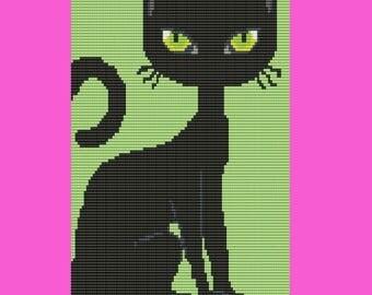 BlackCat Bead Pattern LOOM Pattern