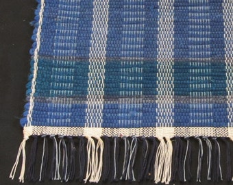 """Rag Rug """"Blueberry Hill """"  Short and Sweet OOAK"""