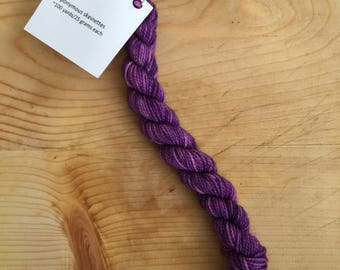 Mixed berry  - eponymous sock yarn, fingering weight yarn mini skein