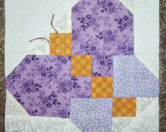 Set of 12 Presewn Already Pieced Butterfly Quilt Blocks in Cheerful Thirties Prints  7 1/2 inches