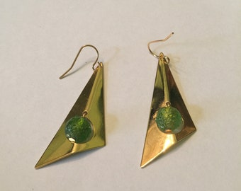 Angular Triangle Earrings