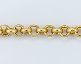 Matte Gold, 3.5mm Rolo Chain #CC144
