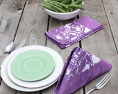 Plum Lunch Napkins