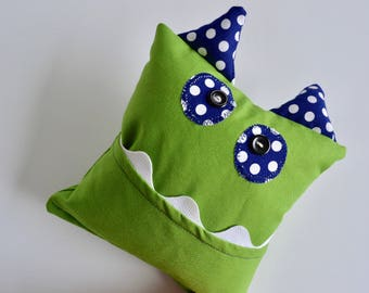 Monster Tooth Fairy Pillow - Boys Tooth Pillow - Lost Tooth Pillow - Girls Tooth Pillow - Gift for Kids - Green Tooth Pillow - Tooth Fairy