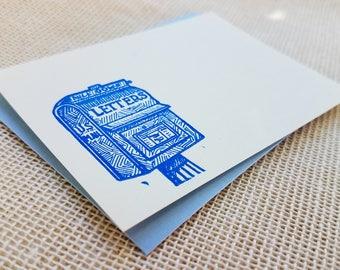 Letterpress Enclosure Card - Postal Box