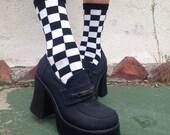 Checkered trouser socks