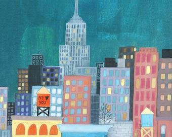 New York Loves You - Signed Art Print