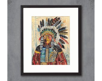 Turning Point Native American Print on Paper