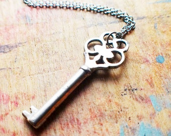 Authentic Antique Victorian Key Necklace // Fall Sale 15% OFF - Coupon Code SAVE15