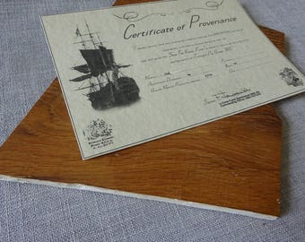 Large HMS Victory Oak coaster with original white paint and COP
