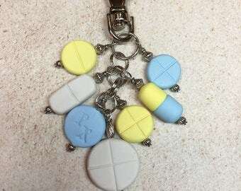 Pill Themed Planner or Purse Charm from My Bead Garden