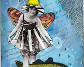Collage Print on Fabric