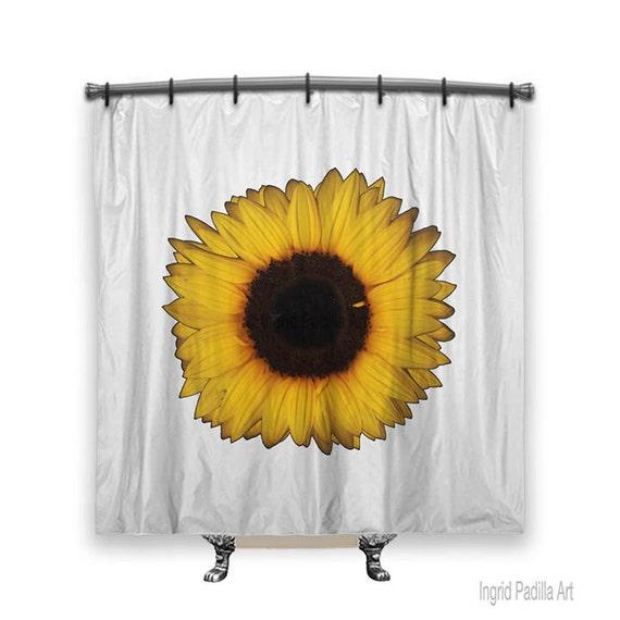 Sunflower Shower Curtain, Shower curtain, sunflower, Big flowers, shower curtains, Fabric shower curtain, floral shower curtain, fall decor