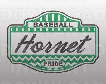 Baseball Hornet Pride SVG File -Commercial & Personal Use- Vector Art SVG For Cricut,Silhouette ...