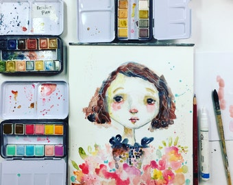 Face 24 in Watercolor online project - by Mindy Lacefield