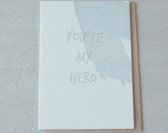 You're my her letterpress card