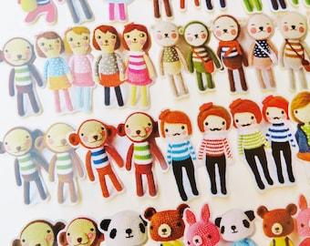 20 pcs Amigurumi Die-cut Stickers