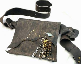 Leather Hip Bag - Shi Pocket Belts - One of a Kind