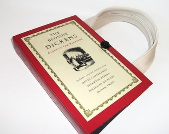 Charles Dickens Book Purse Vintage Handbag Upcycled Book Bag