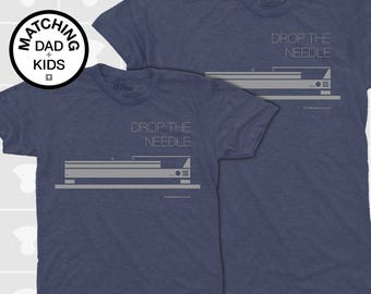 SALE! Matching Father Son Shirts, Dad and Baby Matching TShirt, Dad Daughter Matching, Rock n Roll TShirt, Father Child Matching