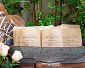Program Bag with for Confetti Toss  - Hooray Design - Short Order of Service - Simple, Elegant Wedding - Aisle Toss  - 20 Kraft Brown Bags
