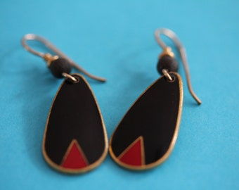 VINTAGE Laurel Burch KI dangle earrings