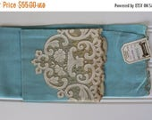 BIG SALE - Vintage Linen Towel - Madeira - Blue - Lovely Cottage Style - Rare - New with Tags