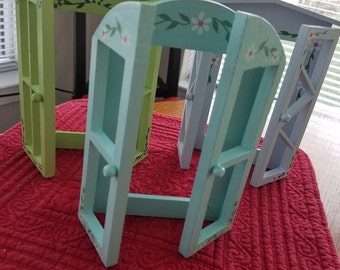 3 Window Picture Frames Hand Painted Adorable