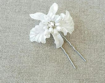 Bridal Hair Flower Wedding Tropical Orchid Hair Pin Accessories Headpiece Hair Jewelry Flower Cocktail Accessory