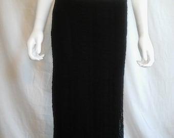 SALE 90s black lace skirt