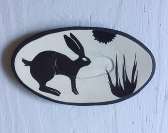 Medium Hare Ceramic Oval Platter