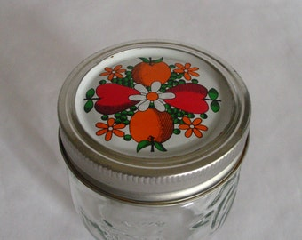 "Vintage Kerr Fruit Crystal Jelly Jar-Fruit Twist Off Lid 3.5""-Canning-509 2l"