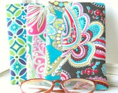 Eyeglass Sunglass Vera Bradley Soft Case Handmade some retired prints blue black  multiple prints under five dollars glasses cases eyewear