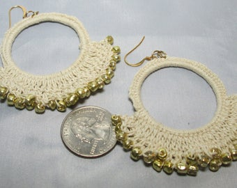 Boho Glam Crocheted Earrings