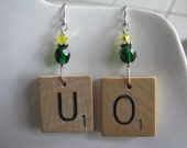 D&C scrabble earrings