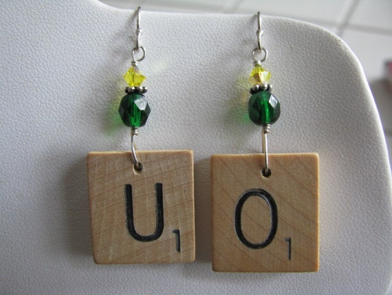 D&C scrabble earrings