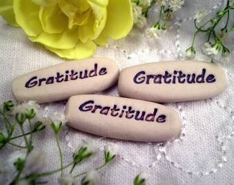 Gratitude Pocket Messages,  Gratitude Stone, Gratitude Pocket Charm, Inspirational Saying