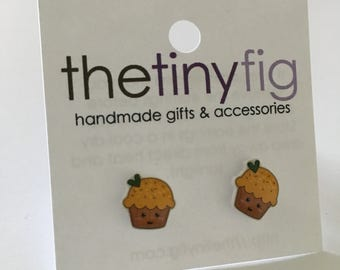 Limited Edition: Yellow Cupcake Earrings | Sterling Silver Posts Studs | Gifts For Her